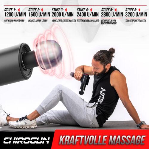 ChiroGun Massage Gun Geschwindigkeiten